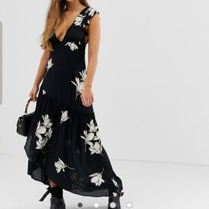 Free People She's a Waterfall Floral Maxi Dress 4